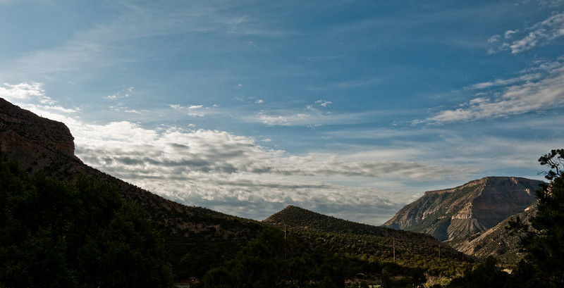Joe's Valley in the morning. Look at that big beautiful Utah sky.
