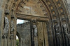 """St. Bertin Abbey was a famous cultural center, from the earliest times, the monks had a school at the abbey.  Here the west doorway to the tower - with the inscription """"Castissimum Divi Bertin Templum Caste Memento Ingredi"""" (Castle San Castissimum - Bertin Temple)."""