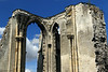 Mid-day sunlight upon the stone ruins of the St. Bertin Abbey - in the town of St. Omer.