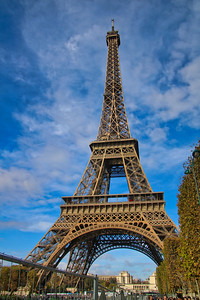 Eiffel Tower in Paris with city background