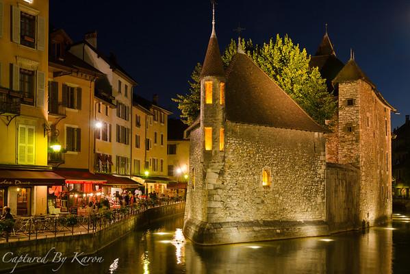 Palais de l'Isle, Annecy, by Night