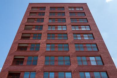 Red building in Frankfurt