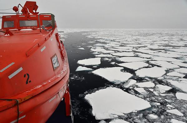 Ortelius going north into Arctic Ocean