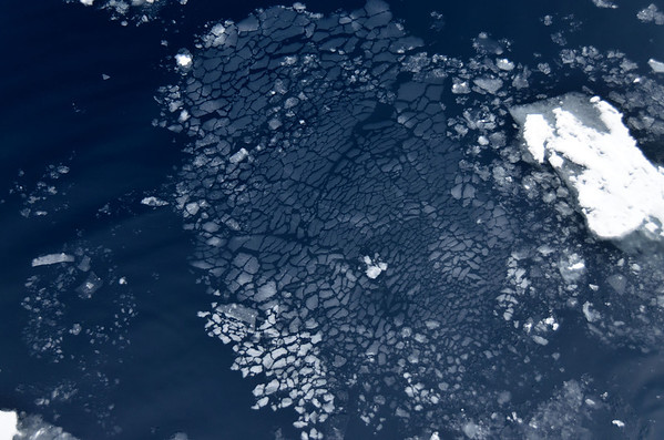 Ice pattern, north of Franz Josef Land