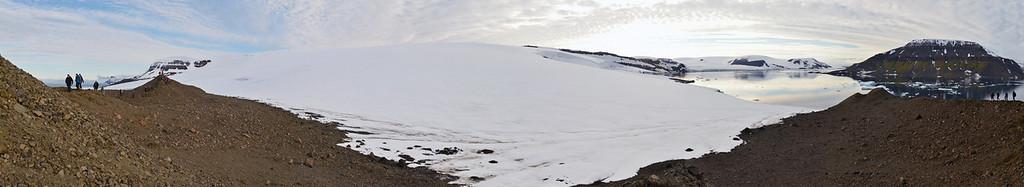 Moraine ridge on Ziegler Island, Coal Mine Island to the right