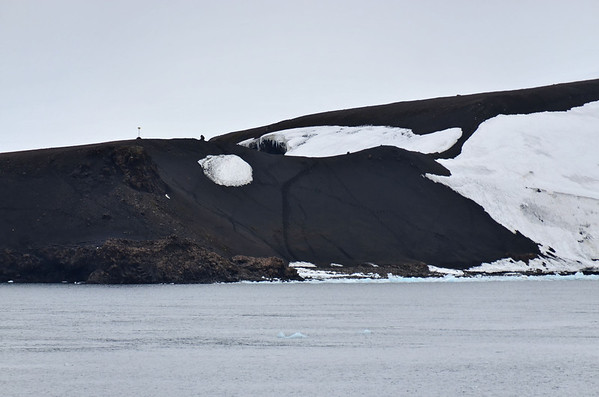 Cape Fligely and polar bear tracks, Rudolph Island