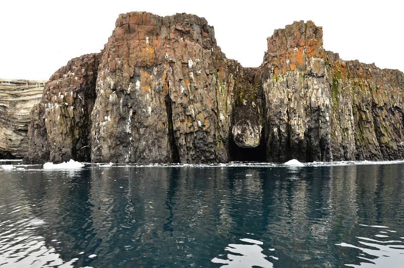 Snow rock, E side of Cape Fligely, Rudolph Island