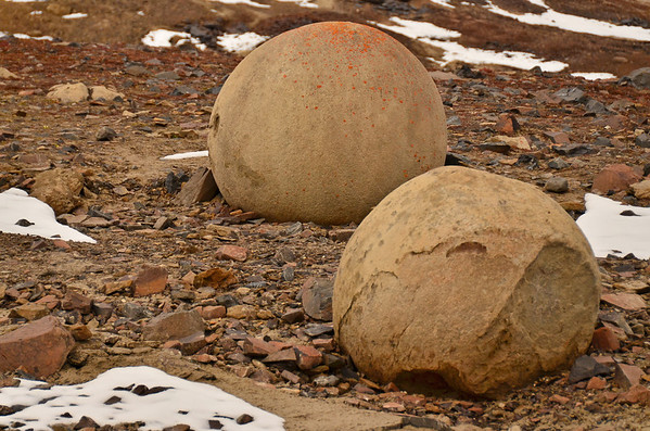 Geospheres at Cape Triest, Champs Island