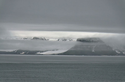 Fog layers, Marble Island