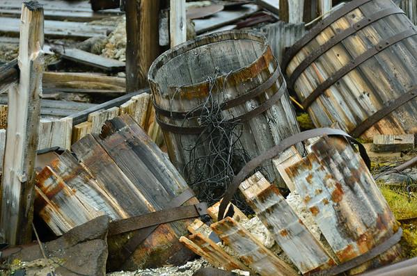 Calcium Hydrit barrels, Sedov Station, Tichaya Bay, Hooker Island