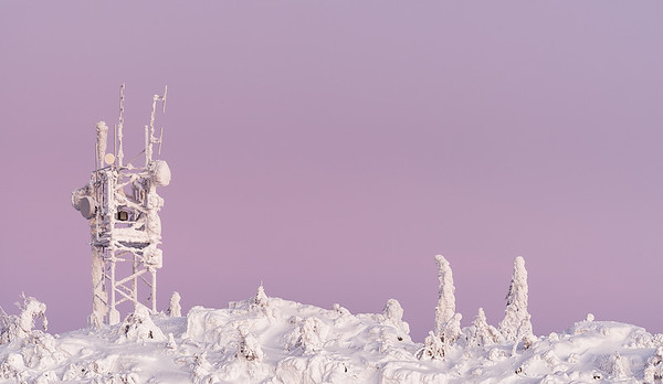 Encrusted radio mast, Finland
