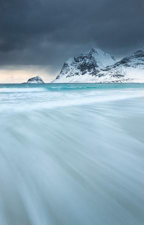 Waves, Haukland, Lofoten islands