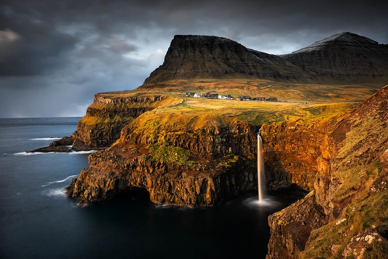 Winter light, Gasadalur, Faroe Islands