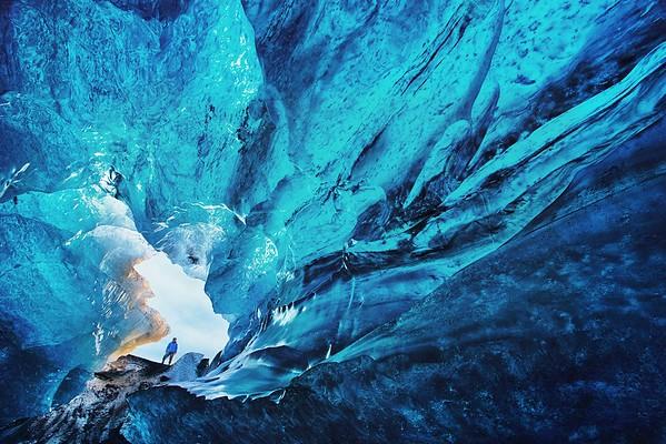 Ice cave entrance, Iceland