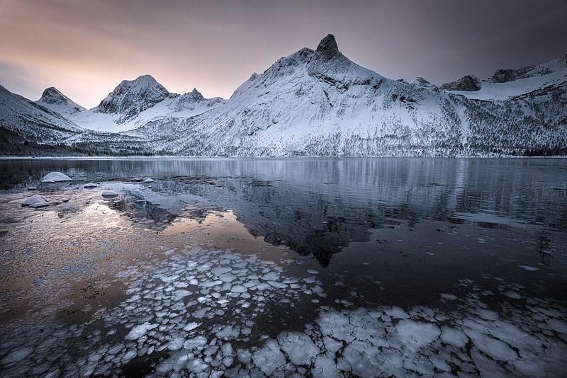 Frozen fjord, Senja