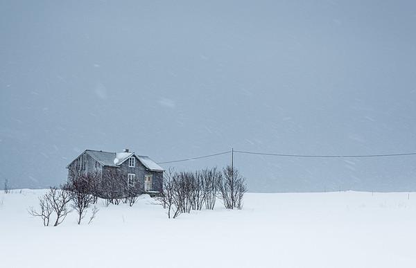 Remote house, Lofoten islands