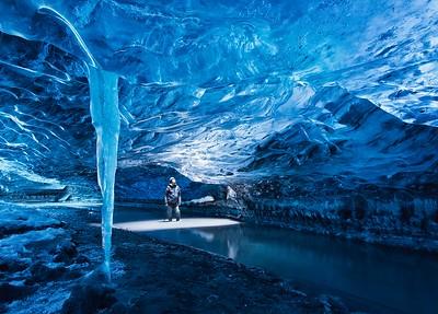 Ice cave, Vatnajokul, Iceland