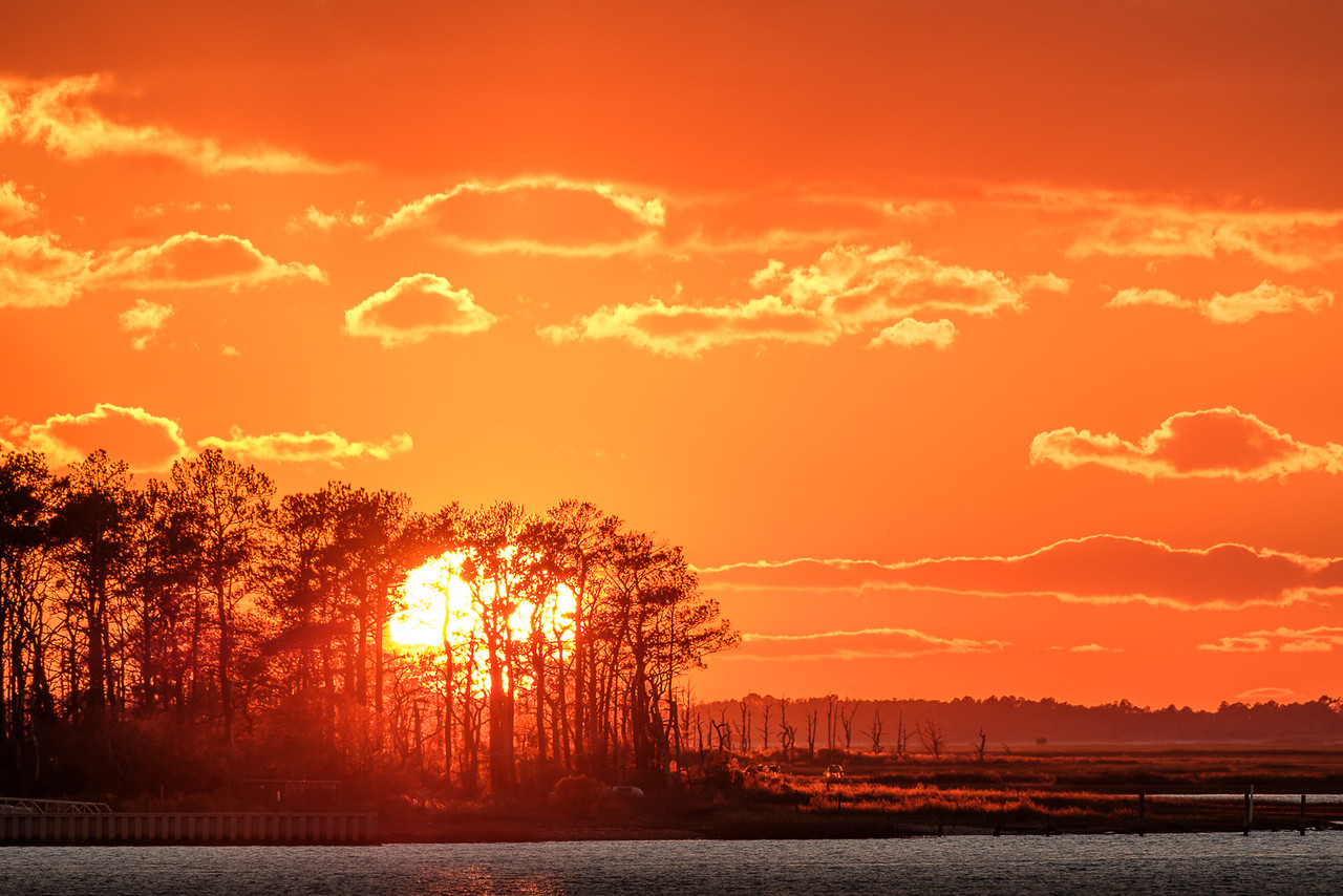 Sunset Over Assateague Island Virginia