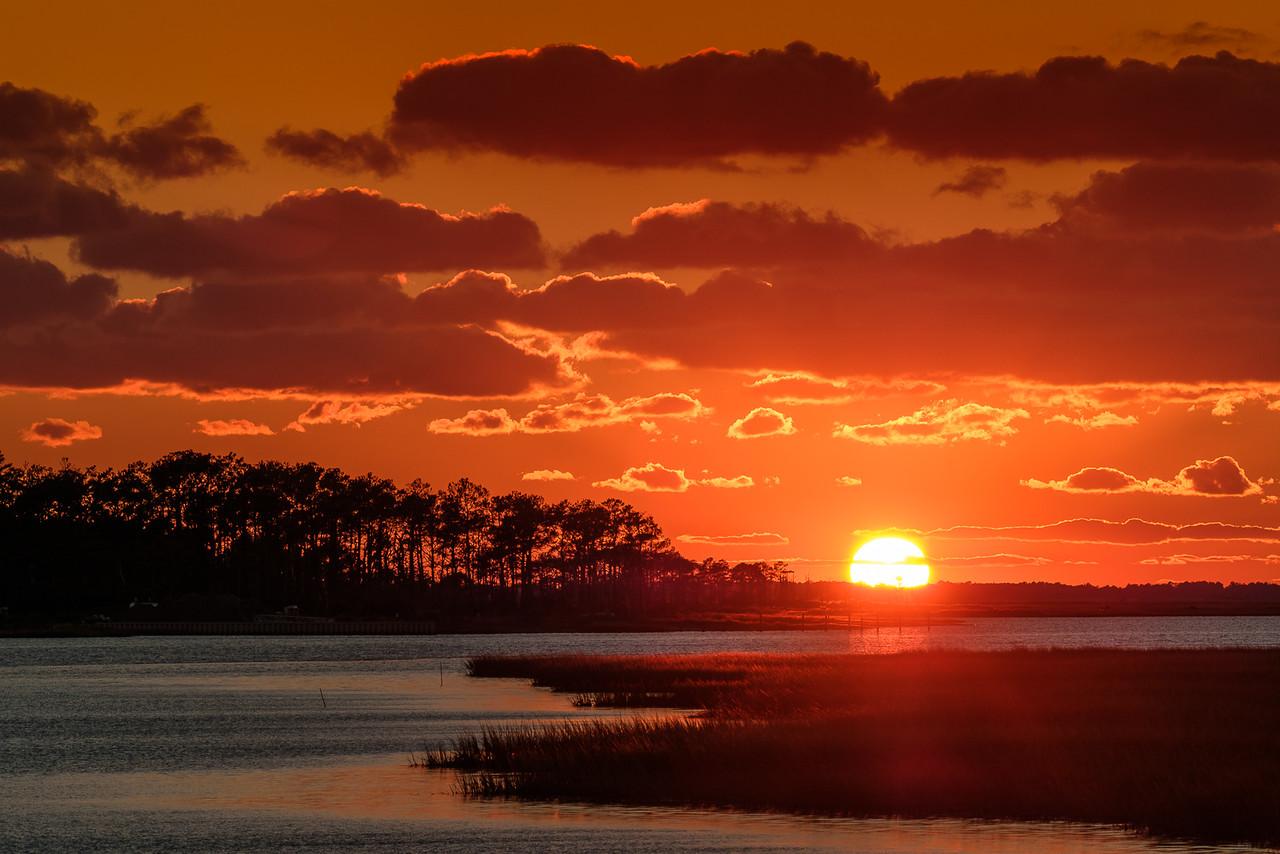 Sunset Over Assateague Island Virginia
