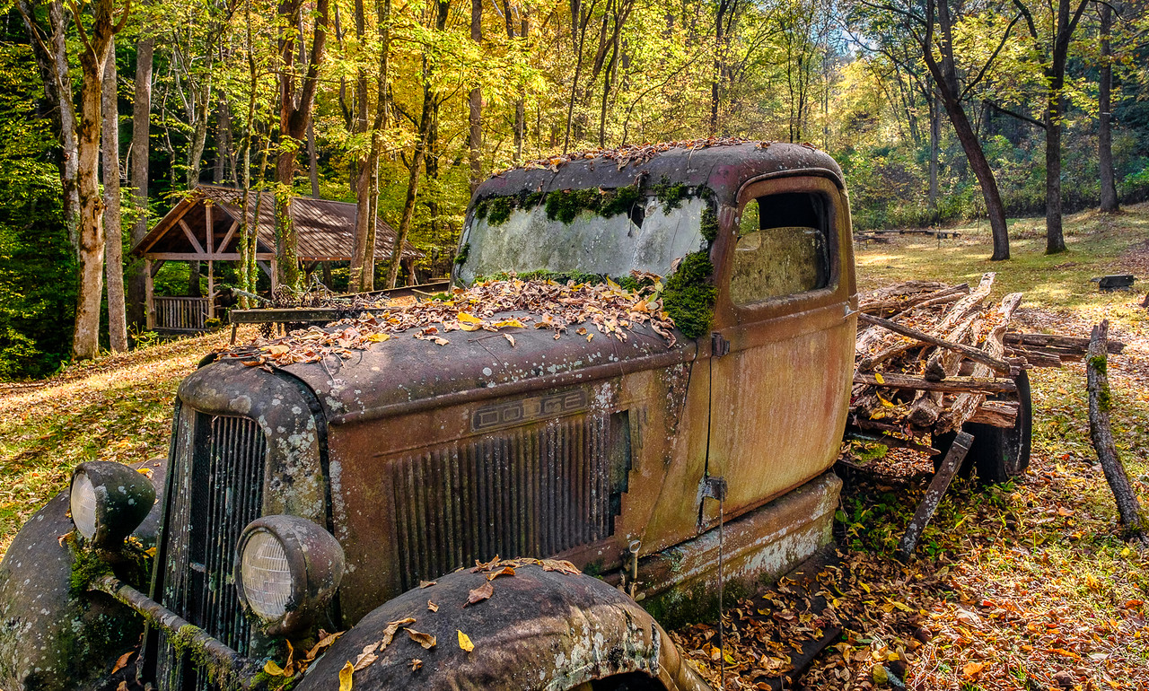 Old Rusty Truck in a Fall Country Setting