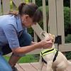 Kassie meeting our neighbor Cheryl