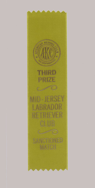 Ribbon from Mickey's only breed show - April 1990
