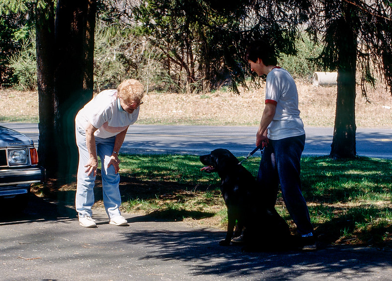 Mickey greets neighbor Dottie - 1991