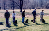 Mickey & Mercedes at dog training class - April 1991