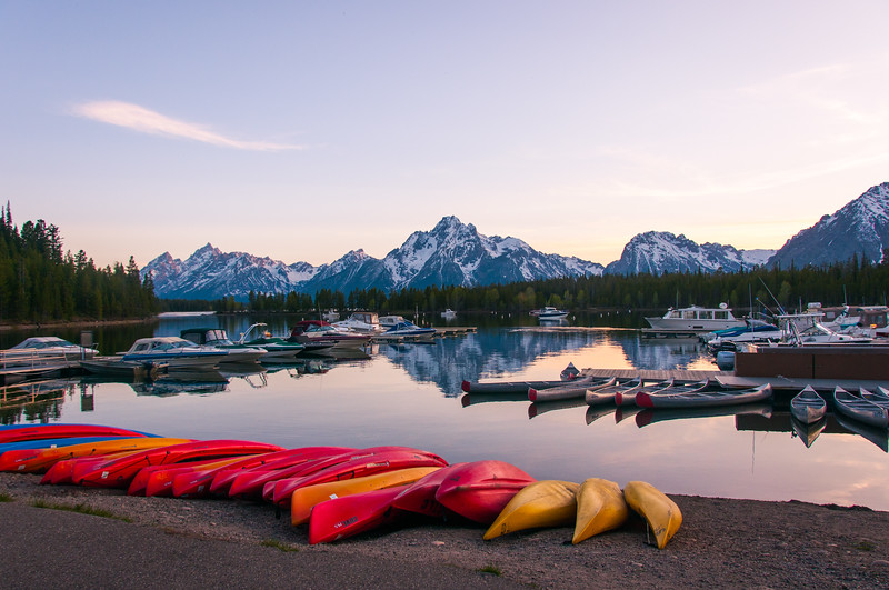 Grand Teton sunset marina