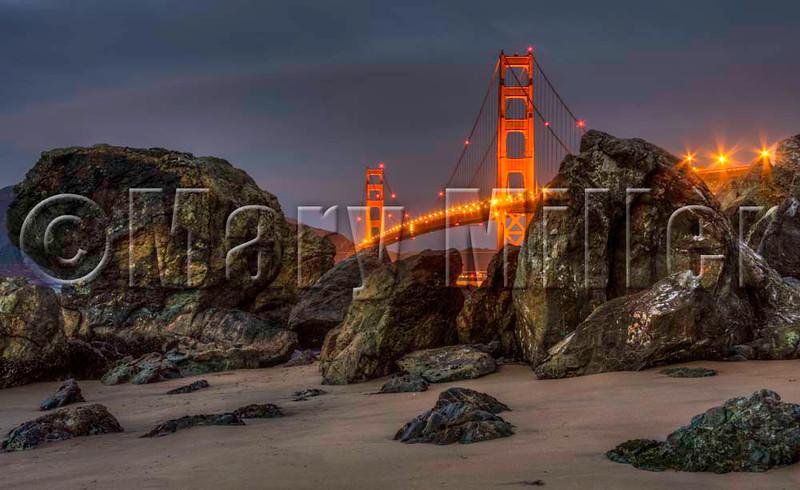Nightfall At The Golden Gate