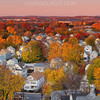 Autumn in Boston Suburbs with Quaint New England Town and Fall Foliage (2:1 Right)