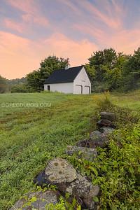 New England Barn and Farmstead Stone Wall in Boxford Massachusetts