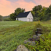 New England Barn and Farmstead Stone Wall in Boxford Massachusetts