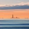 Graves Lighthouse from Winthrop Beach Massachusetts at Sunrise