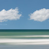 Cumulous Clouds over Winthrop Beach Waves Abstract