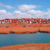 Beachmont Revere Massachusetts over Belle Isle Marsh in Kodak Aerochrome
