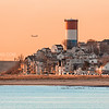 Cottage Hill Winthrop Massachusetts at Sunrise over Winthrop Beach and Winthrop Shore Drive