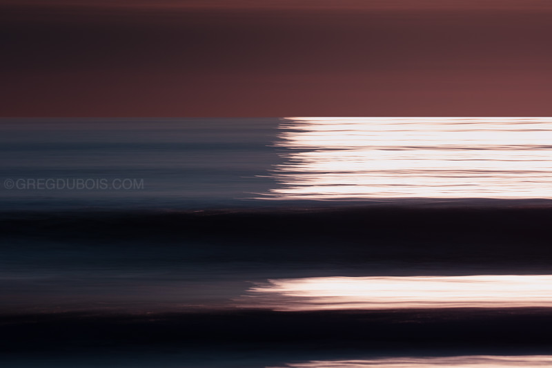Winthrop Beach Dark Waves with Rising Sun Reflection and Pan Motion