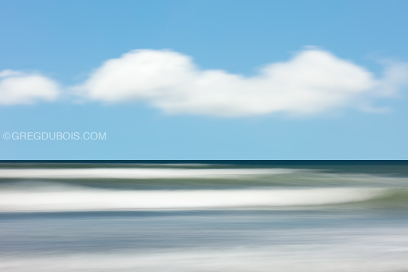 Winthrop Beach Waves Abstract with Cloudy Blue Sky