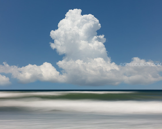 Winthrop Beach Waves with Summer Thunderheads and Pan Motion