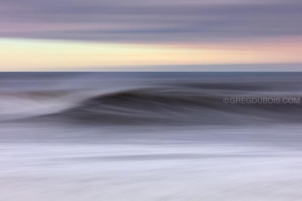 Winthrop Beach Winter Storm Surge Waves Abstract