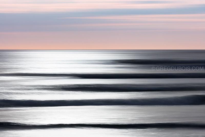 Winthrop Beach Silver Waves Sunrise Abstract