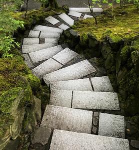 Stone Steps, Japanese Garden, Portland, 2020