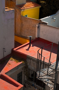Roofs and Stairs, Mexico City, 2011