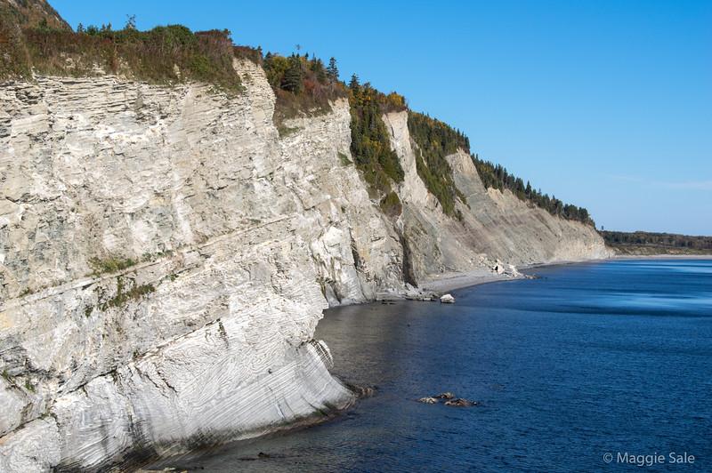 Cliffs looking north from Cap Bon Ami