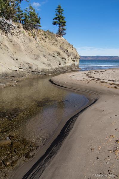 Creek flowing into Gaspé Bay near Douglastown