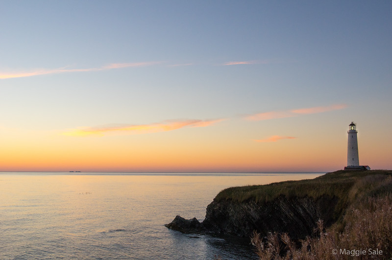 Lighthouse at dawn at Cap-des-Rosiers