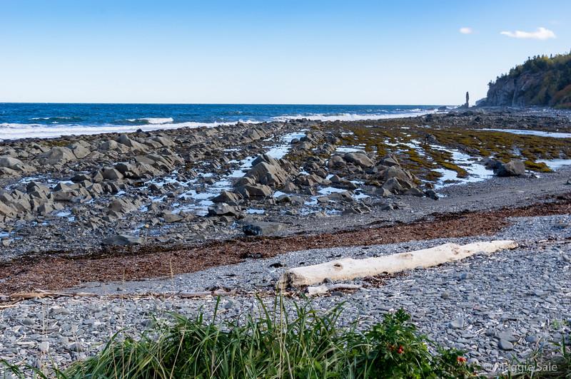 Tourelle rock from the beach near Tourelle harbour