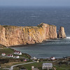 Percé Rock from the mountain behind the town