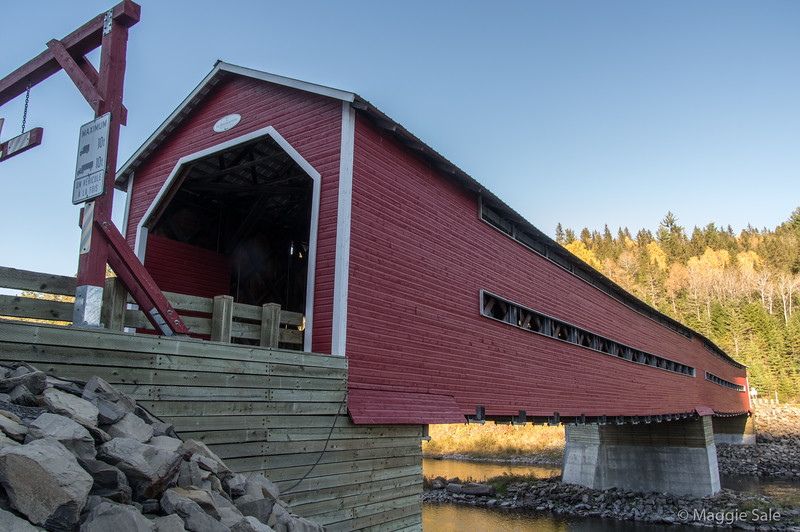 Covered bridge at Routhierville in the Matapédia valley